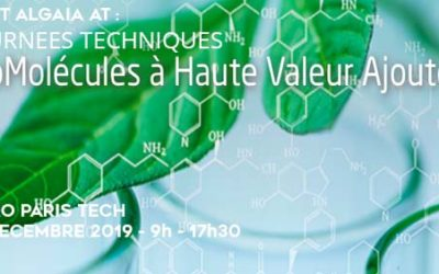 ALGAIA SPEAKS AT THE HIGH ADDED VALUE BIOMOLECULES TECHNICAL DAY
